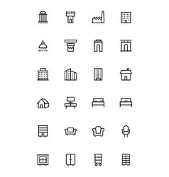 Buildings and furniture 4 vector
