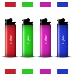 Colored lighters vector