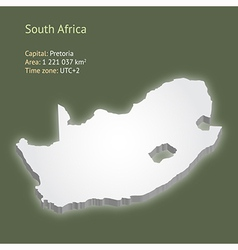3d map of south africa vector