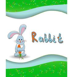 Animal alphabet letter r and rabbit vector