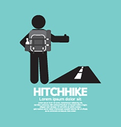 Hitchhike tourist symbol graphic vector