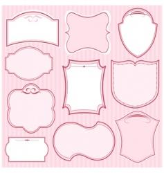 pink vector frames vector