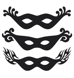 Black carnival masks vector