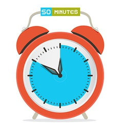 50 - fifty minutes stop watch - alarm clock vector