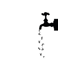 Money icon with fountain black vector