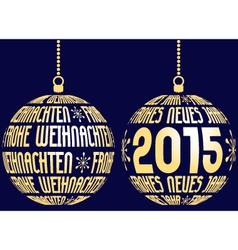 Christmas new year german vector