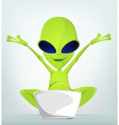 Cartoon character alien 032 cs5 vector