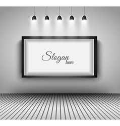 Modern interior art gallery frame design with vector