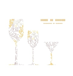 Magical floral three wine glasses vector