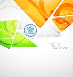 Creative indian flag vector