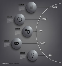 Abstract info graphic time line round element vector