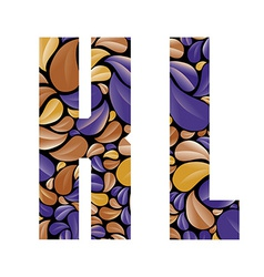 Beautiful floral alphabet letters k and l vector