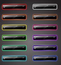 Shiny colored buttons vector