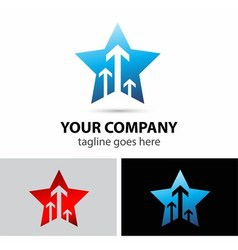Vision and future star logo vector