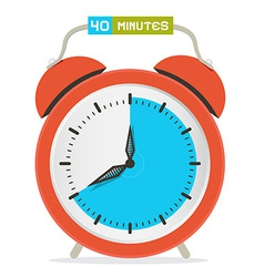 40 - forty minutes stop watch - alarm clock vector