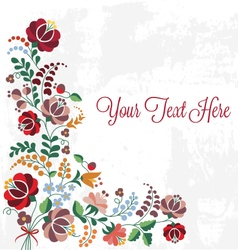 Editable floral greeting card vector