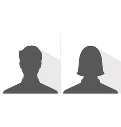 Male and female avatar profile picture silhouette vector