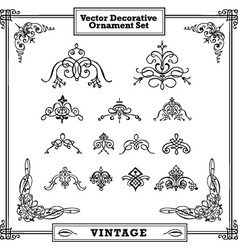 vintage decorative ornament set vector