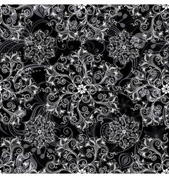 Black seamless mandala vector
