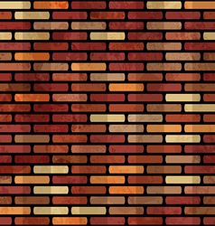 Grunge red brick wall seamless vector