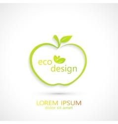 Green apple logo vector