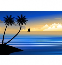 Suset beach vector