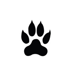 Tiger footprint vector