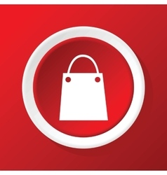 Shopping bag icon on red vector
