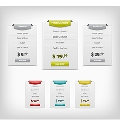 Web plan banners vector