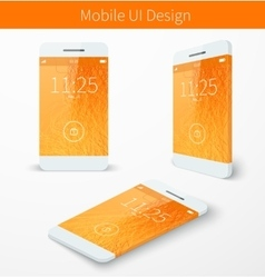 Mobile user application interface concept vector