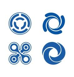 Circle element logos theme vector