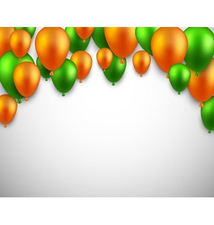 Celebrate arch background with balloons vector