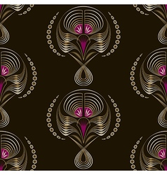 Seamless art deco modern pattern graphic ornament vector