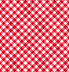 Diagonal red tablecloth seamless pattern vector