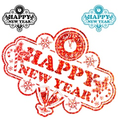New year stamp vector