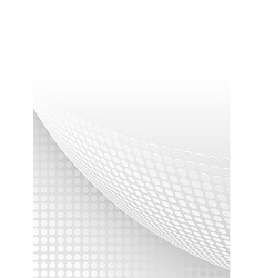 Abstract background with dotted page curl vector