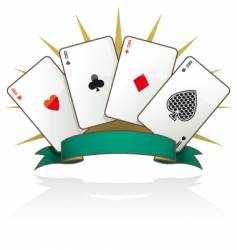 Playing card aces vector