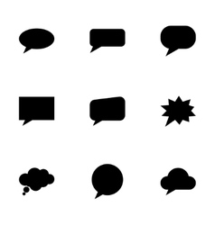 Speach bubbles icon set vector