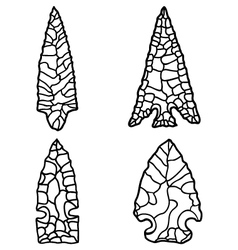 Arrowhead drawings vector
