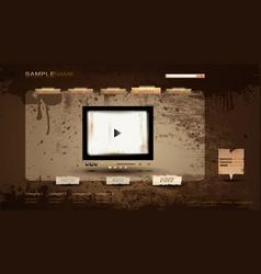 Vintage portfolio website vector