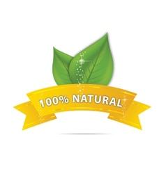 Nature eco ribbon vector