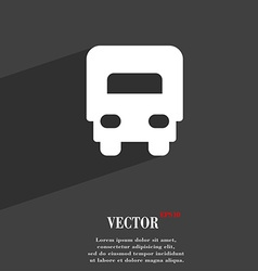 Delivery truck icon symbol flat modern web design vector