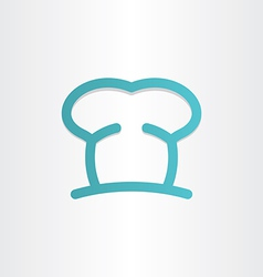 Chef icon cooking hat vector