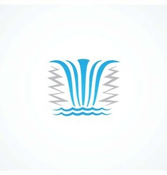 Waterfall icon vector
