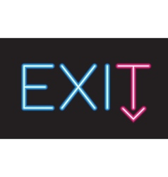 Exit neon sign vector