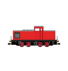 Red locomotive vector