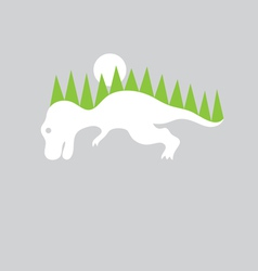 Long sleep dino vector