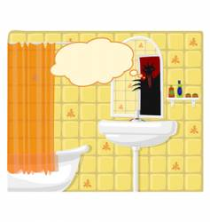 Illustration of bathroom monster vector