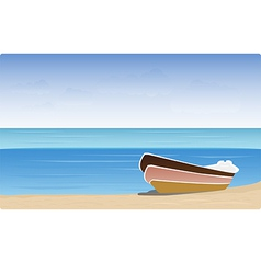 Boat beach vector