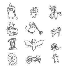 Cartoon happy halloween vector